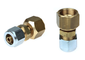 "3/4"" UNF JIC to 8mm FARO Polypipe Swivel Connector"