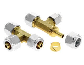 T Connector Ø8/8/8mm for LPG thermoplastic hose - 1pc