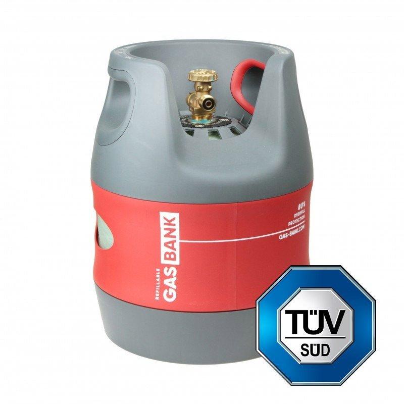 GasBank SINGLE 5 kg - LPG Refillable Gas Cylinder - DIN ...