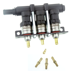 Barracuda 3CYL Big Flow (130Nl/min) Injectors Rail